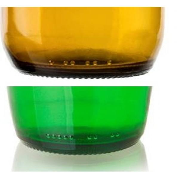 ¿Por qué en las botellas y envases de vidrio hay unos puntos en relieve?